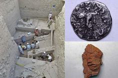 Italian and Pakistani Archaeologists have discovered large layers of an Indo-Greek city with weapons, coins and pottery forms, in Barikot, Pakistan.