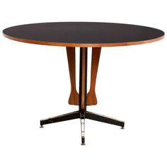 1950s Round Italian Dining Table by Carlo Ratti 1