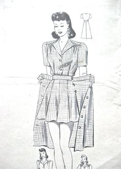 1940s Anne Adams 4903 sewing pattern Bust 32 inches  Waist 27  Hip 35    Pattern is unprinted, complete with instructions. Mail order pattern comes