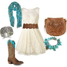 """Girly Western"" by erinlindsay83 on Polyvore"