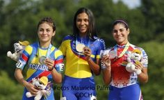 July 12 - Roller Sports - Speed Skating - Women's 200m Time Trial. Ecuador's Ingrid Factos Henao won silver, Colombia's Hellen Andrea Montoya Rios won gold and Chile's Maria Jose Moya won the bronze.