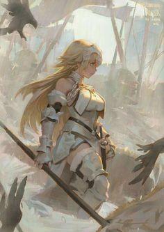 Digital Art Girl Warrior Artworks Ideas For 2019 Fantasy Character Design, Character Design Inspiration, Character Art, Anime Artwork, Fantasy Artwork, Joan Of Arc Fate, Anime Warrior Girl, Anime Krieger, Akali League Of Legends