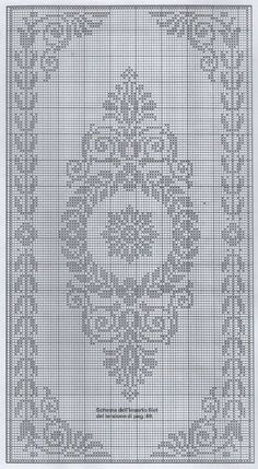 filet crochet or cross stitch chart Filet Crochet Charts, Crochet Cross, Thread Crochet, Crochet Motif, Crochet Doilies, Crochet Patterns, Cross Stitch Borders, Cross Stitch Charts, Cross Stitch Designs