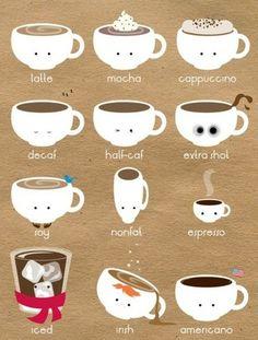 咖啡,How to Draw , Study Resources for Art Students , CAPI ::: Create Art Portfolio Ideas at milliande.com, Art School Portfolio Work ,Whimsical, Cute, Kawaii, Doll, Girls,coffee ,latte, cup, illustration