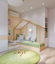 Baby Bunk Models with Roofs Safe and stylish bunk designs designed for babies are specially designed to ensure that the baby room has a quality appear. Baby Bunk Beds, Kid Beds, Baby Cribs, Bedroom Furniture, Bedroom Decor, Bedroom Kids, Wood Bedroom, Bedroom Green, Cool Kids Bedrooms