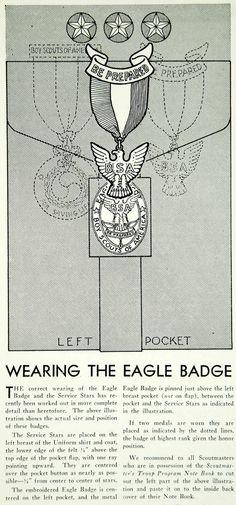 1933 Article Eagle Badge Boy Scouts America BSA Medal Uniform Clothing YBSA1