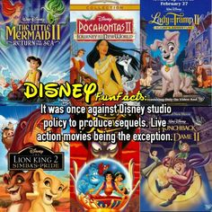 Disney sequels disney fact <--- I think it was better that way. I mean I like the sequels but. Disney Life Hacks, Disney Memes, Disney Quotes, Disney Cartoons, Disney Girls, Disney Love, Disney Magic, Disney Fun Facts, Disney Ideas
