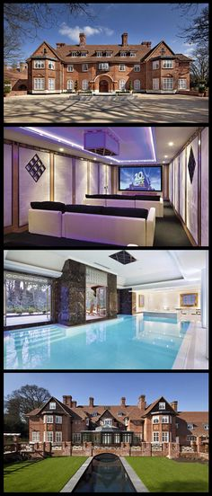 Britain's most expensive home for sale is Heath Hall located on The Bishops Avenue (a.k.a Billionaires Row). The house which recently underwent a £40 million renovation features indoor and outdoor swimming pools, a home theatre and a panic room and is currently on the market for £100,000,000