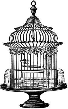 Free Vintage Bird Cage Clip Art