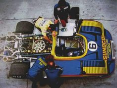 Sunoco Porsche Audi 917/30.  Engine 5.374-litre 12 cylinder (90.0 x 70.4 mm) twin-turbocharged engine could produce 1,580 bhp (1,180 kW) in qualifying tune. Weigth: 820 KG.