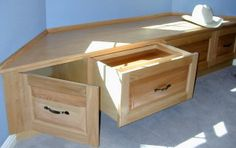 Yes, combine drawers and cupboards in my bay window bench.