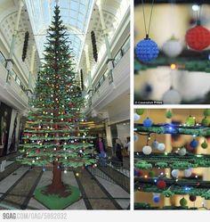 Lego-made Christmas tree