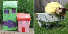 Cardboard Box upcycling