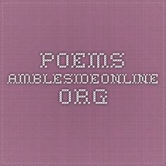 Poems AmblesideOnline.org Year 1