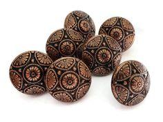 Bottoni di metallo vintage - 6 bottoni Blazer Star tono rame 5/8 di pollice 15mm per gioielli forniture perline per cucire per maglieria
