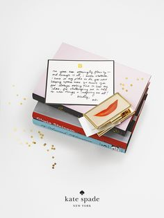 holiday gifts under $50. because she's the boss. featuring the lips business card holder and confetti card. #getgifted