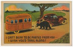 Vintage Travel Camper Trailer - I Can't Bear to Be Parted From You! | eBay