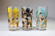 Mid Century Fred Press Butterfly Glasses High Ball by ShopAtGeris, $18.00