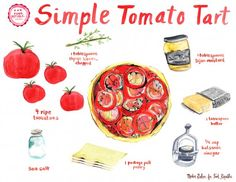 Illustrated Guide: Simple Tomato Tart | Food Republic