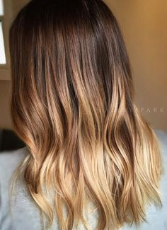 Perfectly melded honey brunette ombre. Color by Jamie Park.