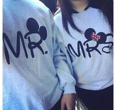 cute Disney couples sweatshirts - NEED these when I get married! Couple In Love, Love Couple Images, Couple Dps, Couple Hands, Paris Couple, Couple Stuff, Couple Shoot, Couple Goals, Cardigan Shirt