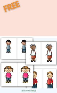 FREE My Family Preschool Math Activity