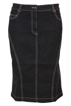 Dark Denim Dark Denim, Denim Fashion, New Look, Jewel, Skirts, Dresses, Vestidos, Cowgirl Fashion, Skirt