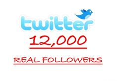 I will add OVER12,000+ Twitter Followers without your password. I always over-deliver. for $10