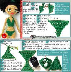 Амигуруми. Куколка Мулатка крючком (7)