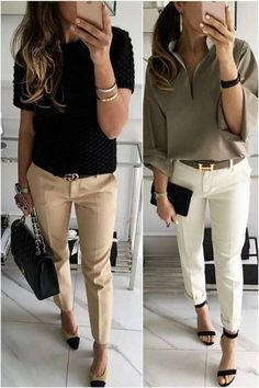 hu - Business Casual Outfits for Work - Fashion Casual Work Outfits, Mode Outfits, Work Casual, Casual Chic, Chic Outfits, Fashion Outfits, Outfit Work, Dress Fashion, Fashion Ideas