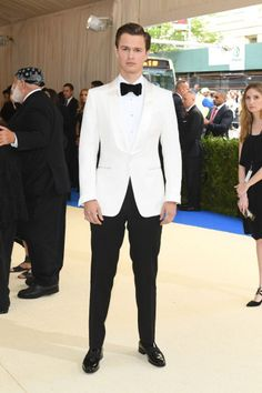 Wedding Suits What your favorite celebrities wore to the 2017 Met Gala. - See every single red carpet look from fashion's biggest night, the Met Gala 2017 at the Metropolitan Museum of Art. Groom Tuxedo, Tuxedo For Men, Tom Ford Tuxedo, Tuxedo Suit, Groom Attire, Groom And Groomsmen, Wedding Suits, Wedding Attire, Wedding Tuxedos