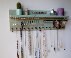 Jewelry organizer with shelf. Earrings display by FineArtHolders