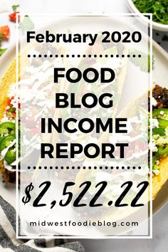 Food Blog Income Report February 2020
