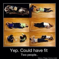Titanic..Yep, two people could have fit...