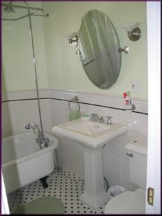 retro bathroom pictures like this mirror. Black Bedroom Furniture Sets. Home Design Ideas