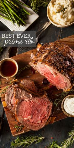Hypoallergenic Pet Dog Food Items Diet Program Best Ever Prime Rib Roast Recipe Has A Garlic Rub That Roasts To A Golden Crispy Outside And Perfectly Tender And Juicy On The Inside. My Step-By-Step Instructions Guide You Through Making The Prime Rib Roast Rib Roast Recipe, Prime Rib Recipe, Rib Recipes, Roast Recipes, Game Recipes, Grilling Recipes, Yummy Recipes, Prime Rib Au Jus, Prime Rib Roast