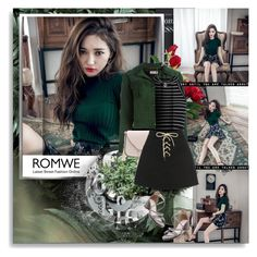 """""""Romwe-Lace Up Fly"""" by vidutoria ❤ liked on Polyvore featuring Nicholas Kirkwood, Yves Saint Laurent, Vanessa Mooney, chic, skirt, romwe and laceup"""