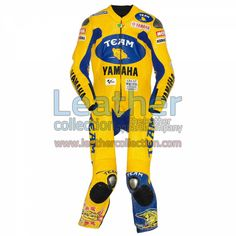 Valentino Rossi Yamaha MotoGP 2006 Racing Suit for $719.20 - https://www.leathercollection.com/en-we/valentino-rossi-yamaha-racing-suit.html
