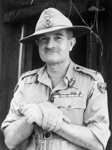 Lieutenant-General William Slim, Commander of the British Fourteenth Army in Burma during the Second World War.