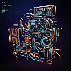GO HARDER by Peter Tarka #type #typography