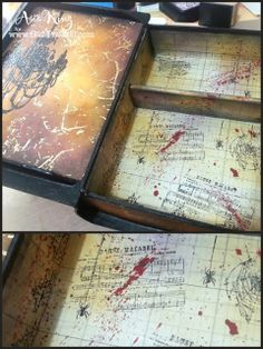 altered spell books | And here you can see how I decorated the title grunge paper alphas ...