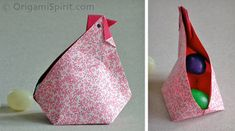 Post image for Video on How to Fold an Origami Abundance Hen