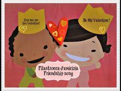 Super cute friendship song / Canzone dell' amicizia (Bilingual Italian English) . Perfect for Valentinesday #sanvalentino2014