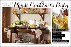 Cocktail Party Ideas & Cocktail Party Themes | Pottery Barn