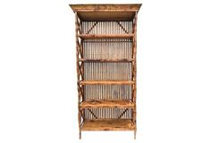 Faux-Tortoise Chinoiserie Bookcase