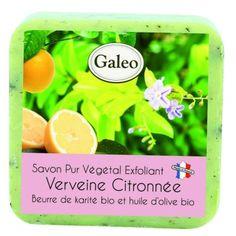CouleurTropiques,savon exfoliant Galeo parfum verveine citronée, 100g de bonheur