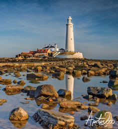 """St Mary's Lighthouse by Colin Carter """"St. Mary's Lighthouse is on the tiny Bait Island, just north of Whitley Bay on the coast of North East England.."""""""