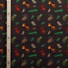 Giraffe-Tiger-Kroko-Elefant-Gecko - Braun - Jersey