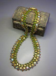 Tutorial  Pandora's Box Necklace  Silky Czech Mates O by zviagil