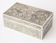 Chinese Late Qing Dynasty, Export Silver Box.